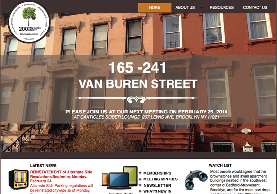 Logo creation and web site design<br> Client: 200 Block Association <br>www.200vanburenstreetblockassociation.com