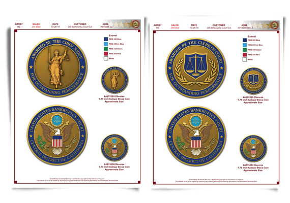 Achievement Coin<br> Prototype Design<br> Client: United States Bankruptcy Court