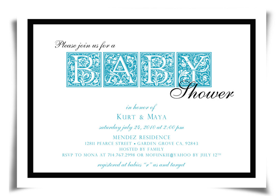 Baby Shower Invitation<br>Client: Maya & Kurt Hoffman
