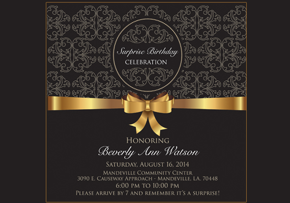 Birthday Invitation<br>Client: Andrea Fulton
