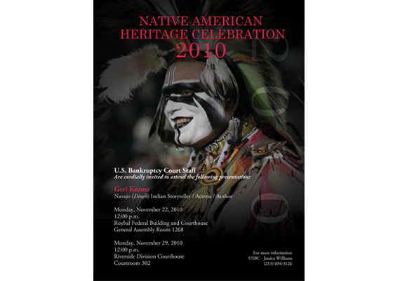 Poster: Native American History Month<br>Client: United States Bankruptcy Court