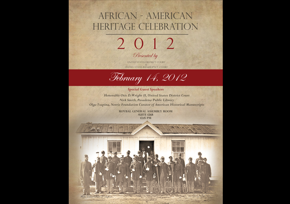 Poster: African American History Month<br>Client: United States Bankruptcy Court