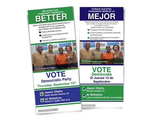 Political Advertising Material<br> Client: Jason Otano & Al Wiltshire